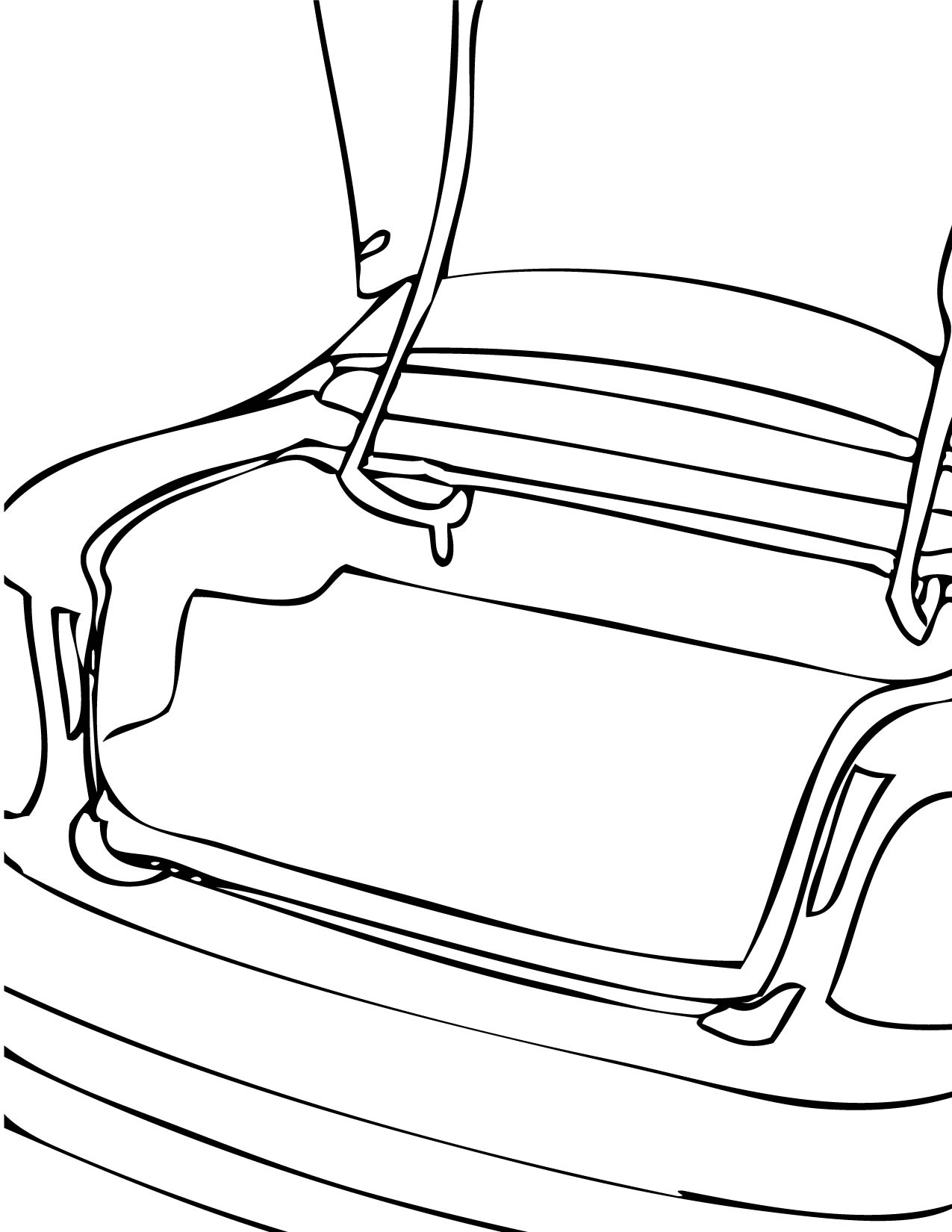 open car trunk clip art