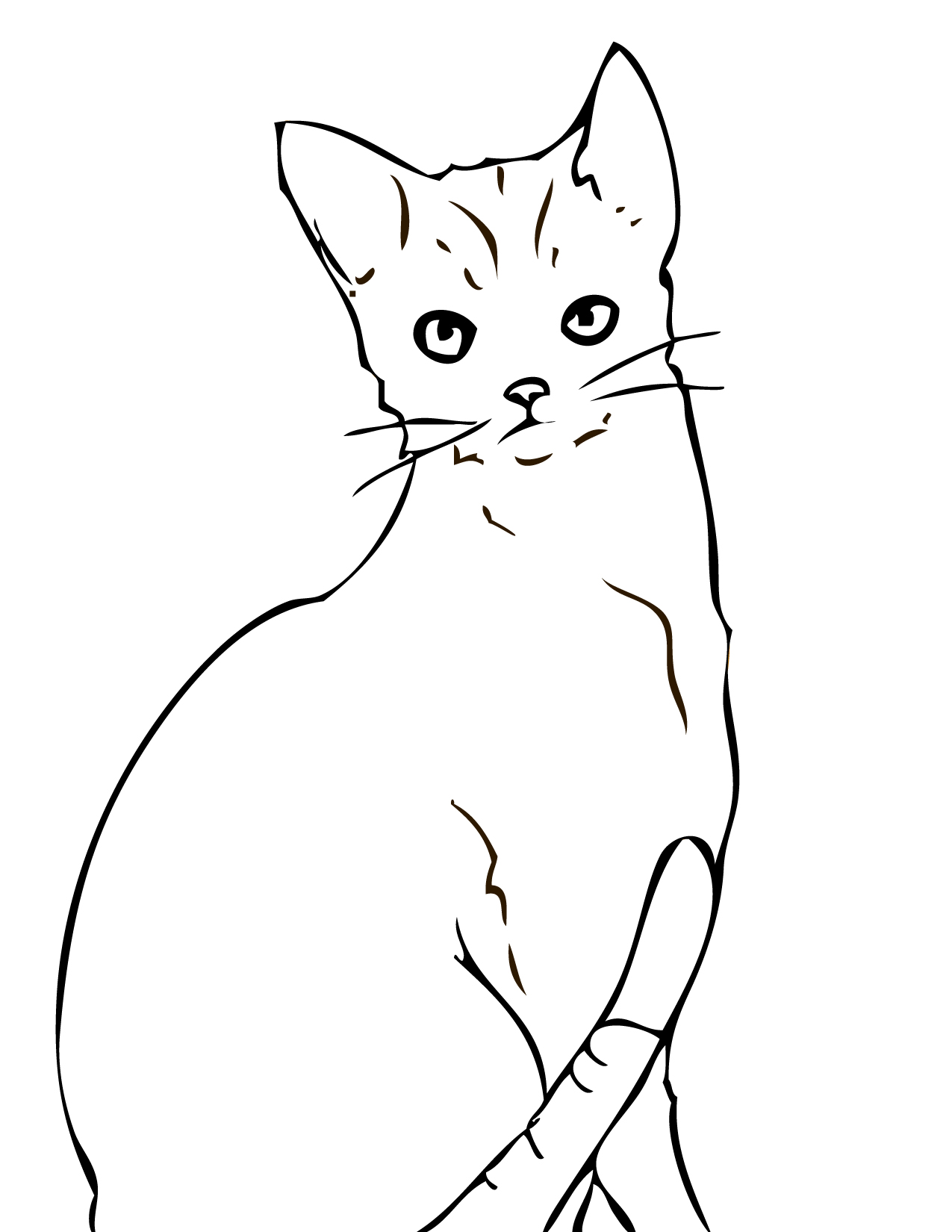 abyssinian coloring page handipoints