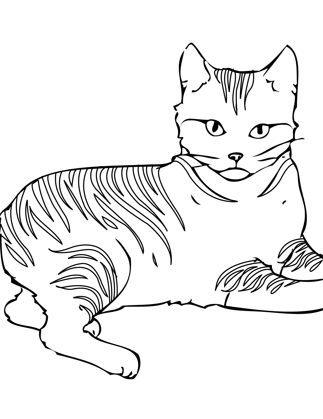 pixie bob coloring page handipoints