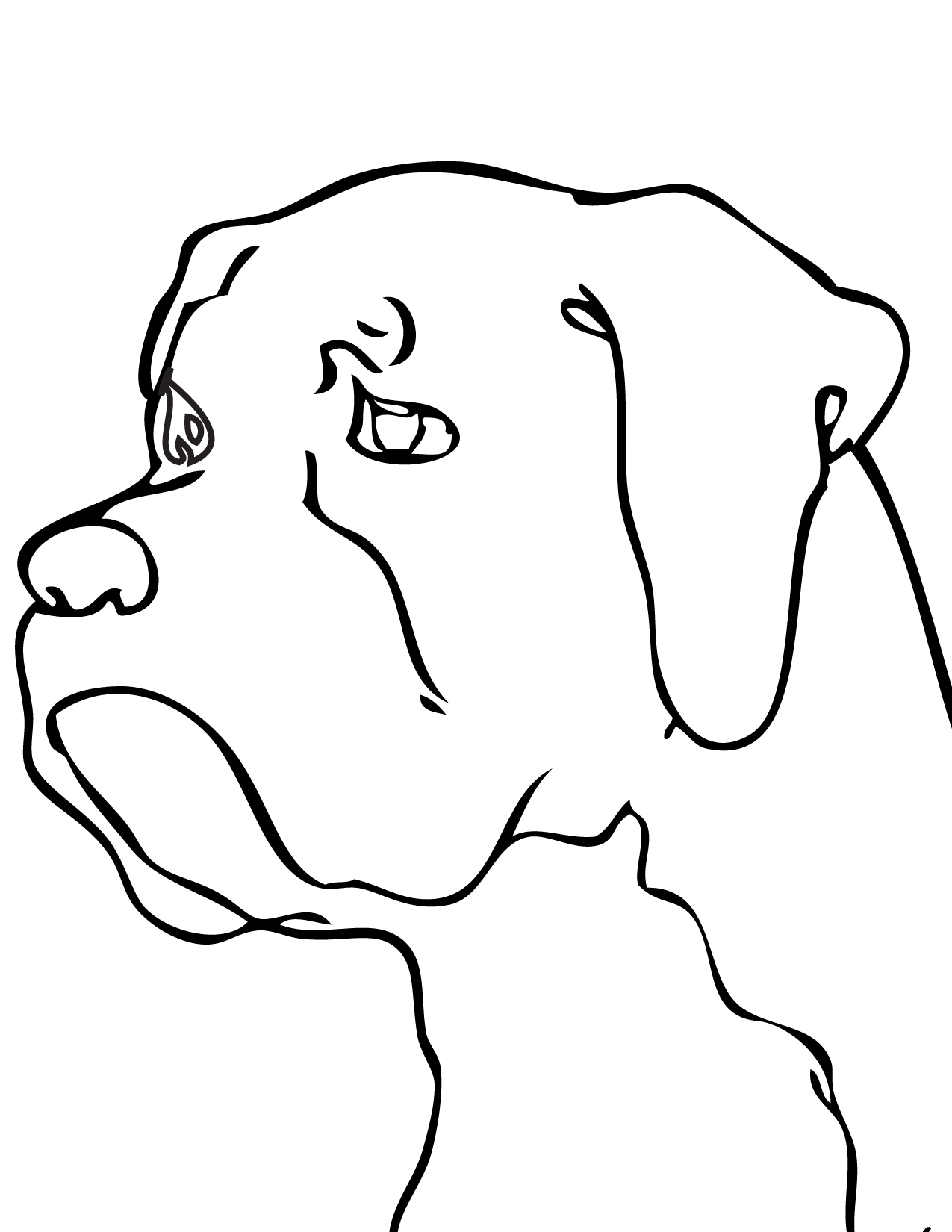 Boxer Coloring Page - Handipoints