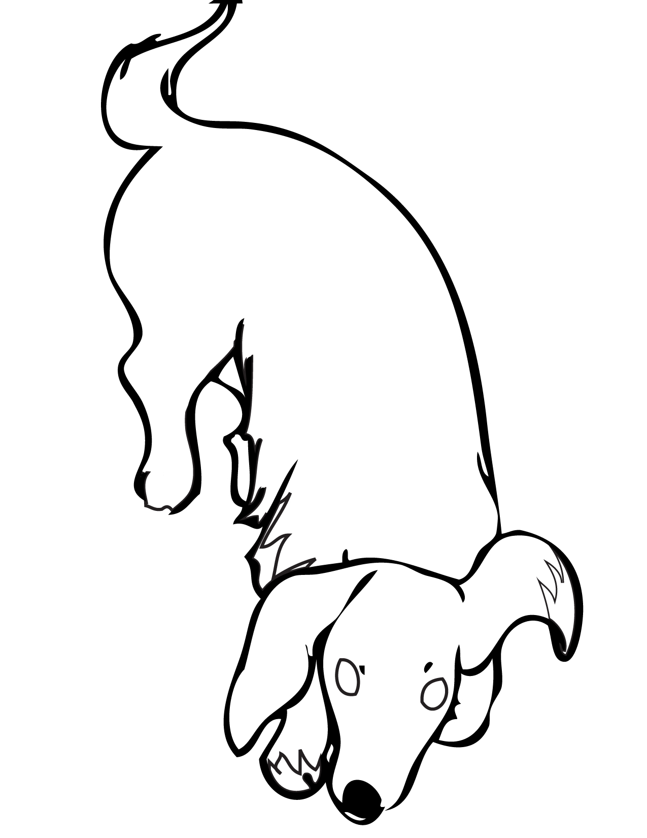 weenie dogs coloring pages - photo#27