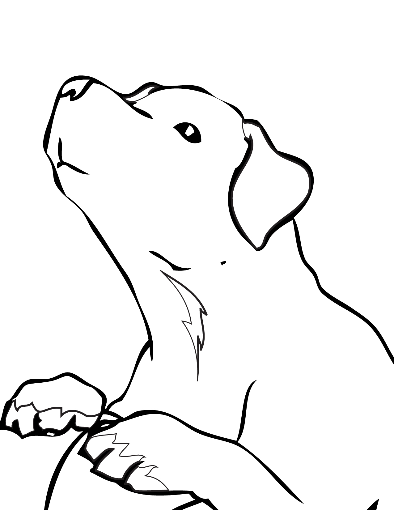 lab puppies coloring pages - photo#26