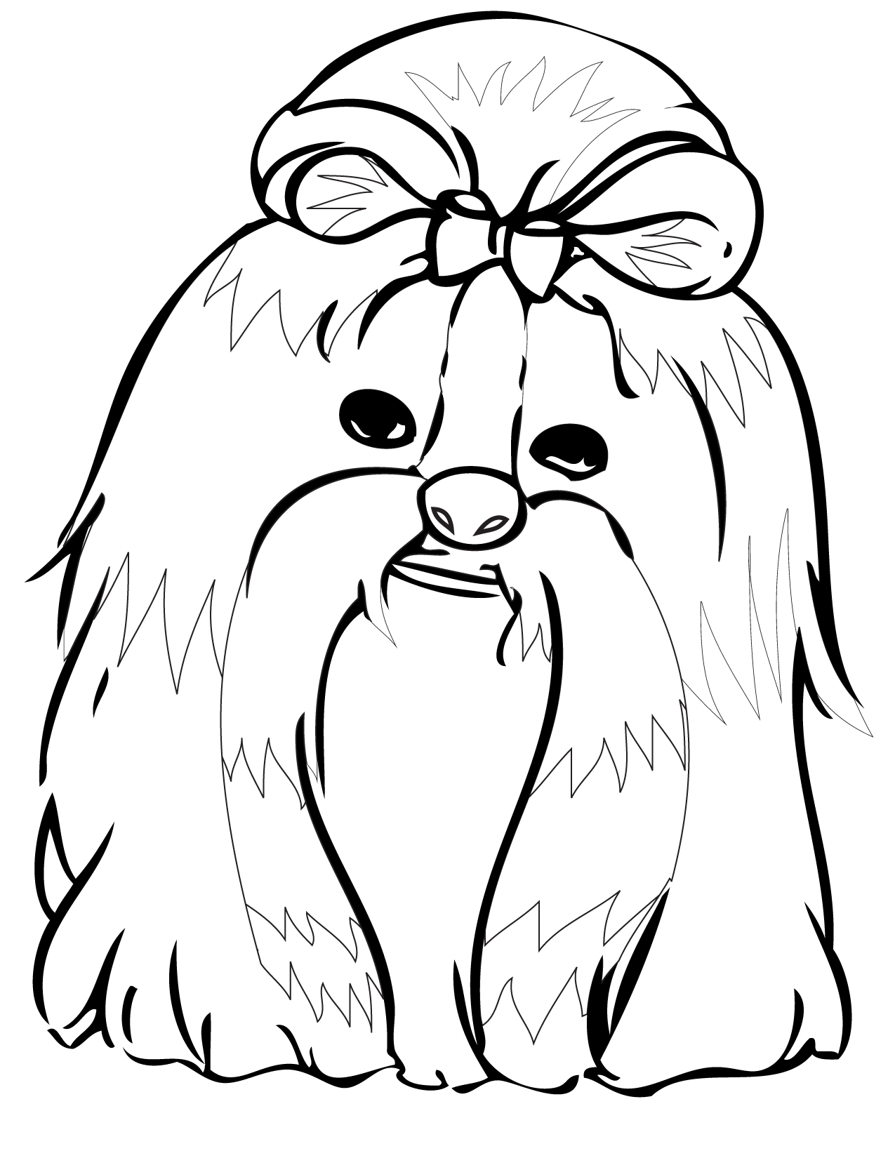 shih tzu coloring page handipoints