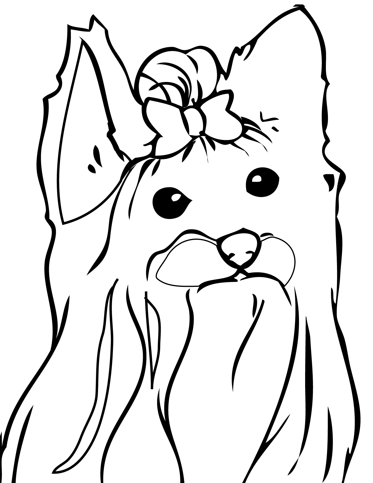 Yorkshire Terrier Coloring Page Handipoints