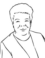 Coloring Page Maya Angelou. Maya Angelou Great Writers Coloring Pages  Handipoints