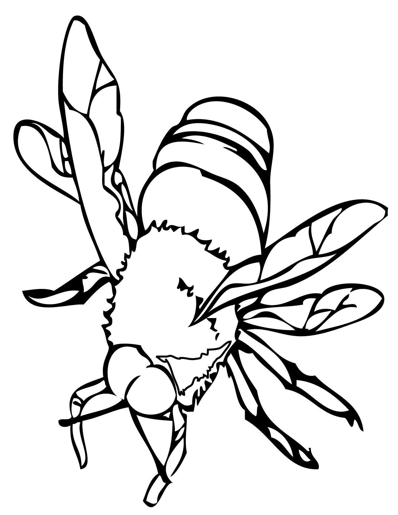 Bee Coloring Page Handipoints