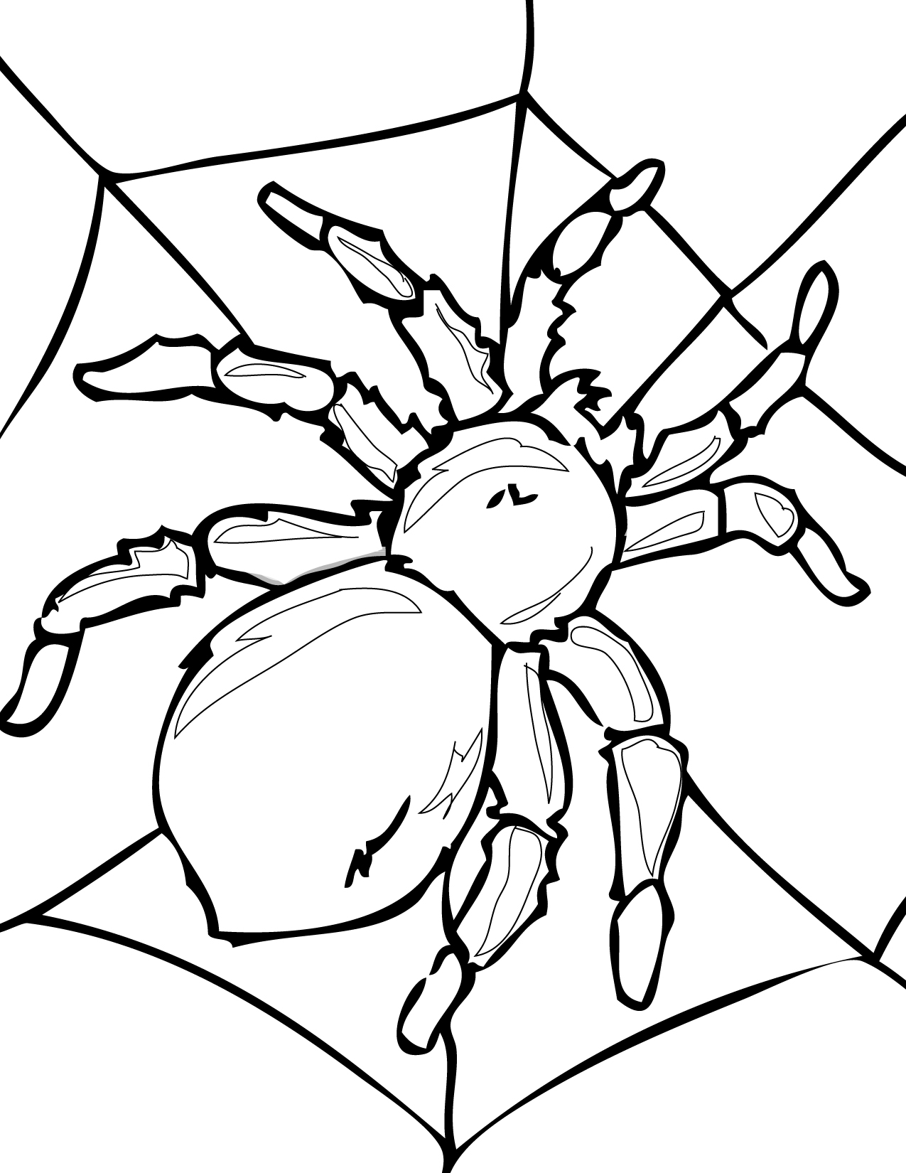 Spider Coloring Page - Handipoints
