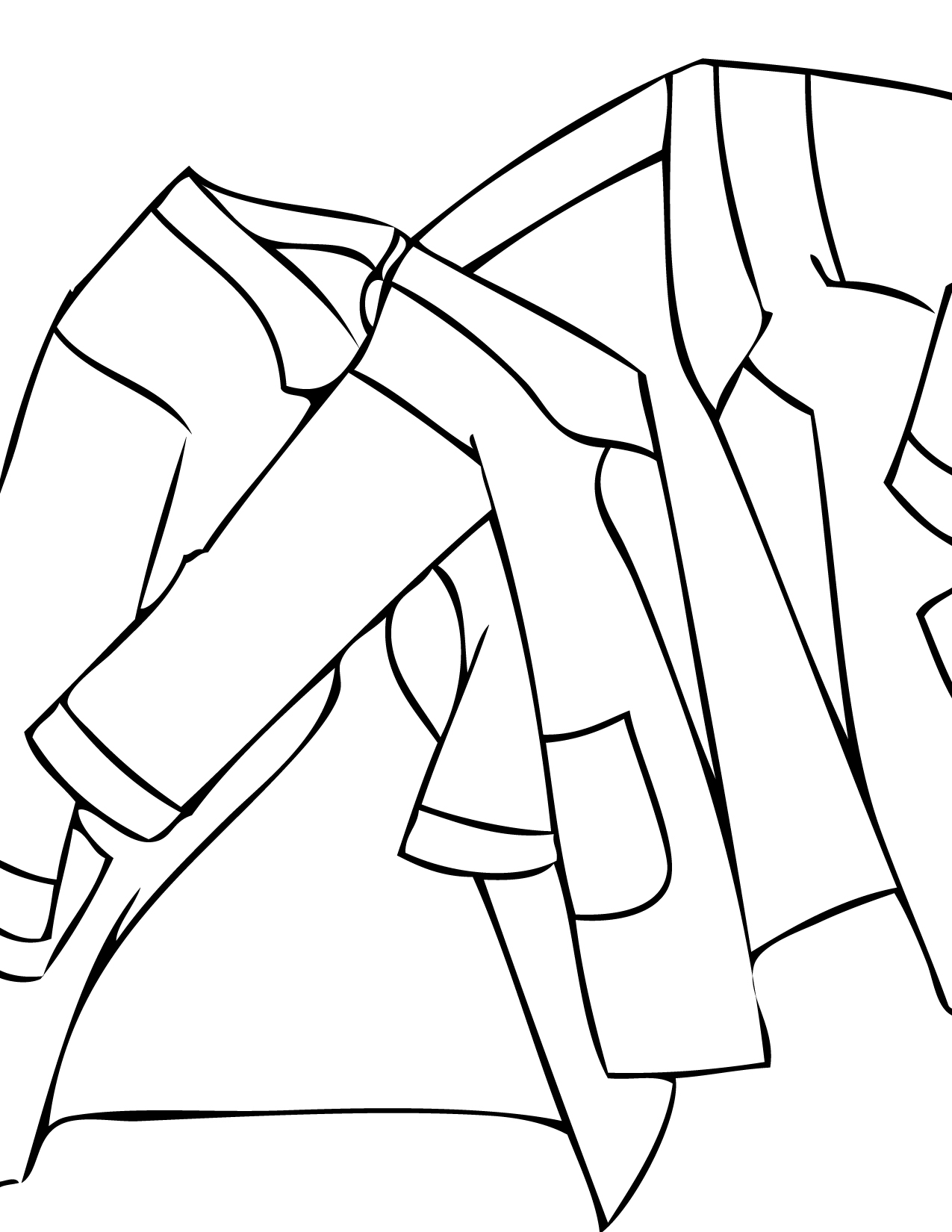 lab coat coloring page handipoints