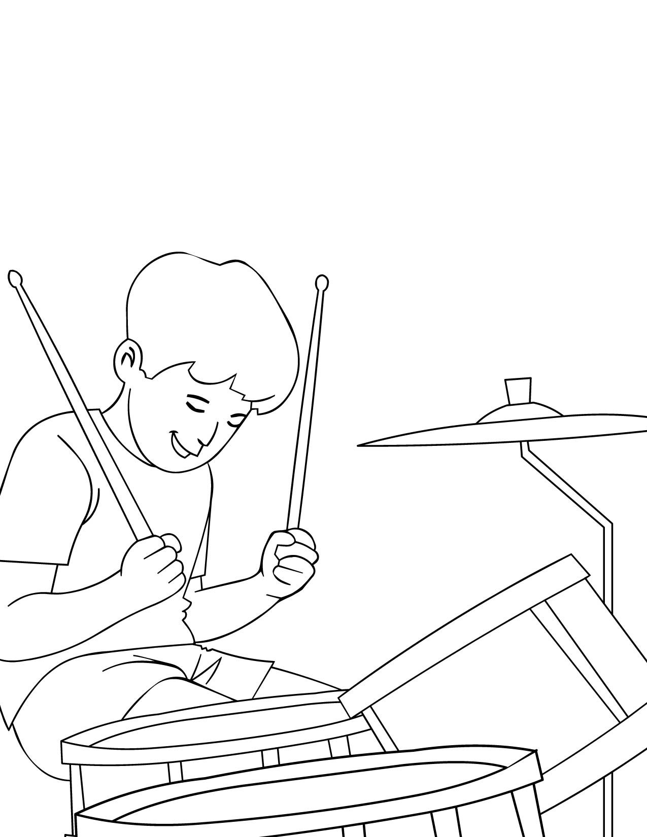drums coloring page handipoints