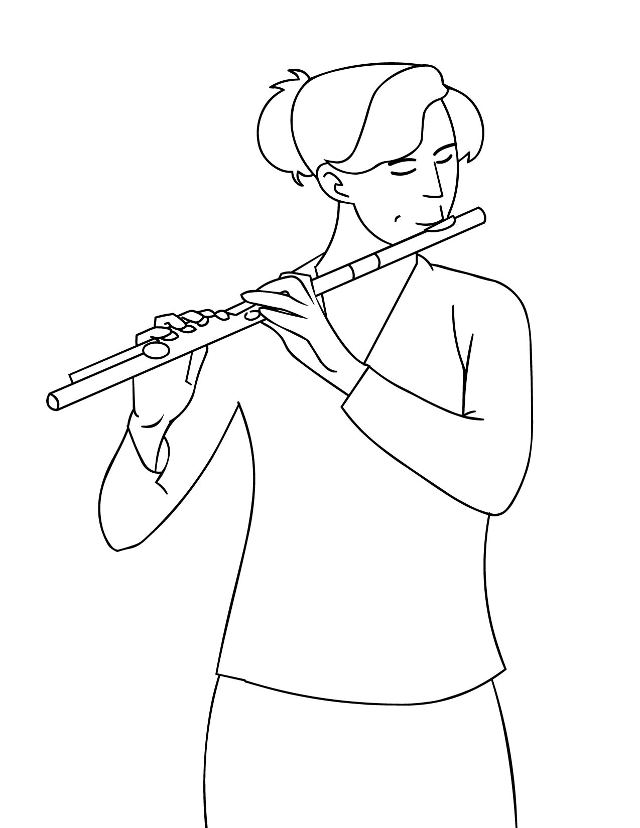 musical instruments coloring pages coloring pages flute
