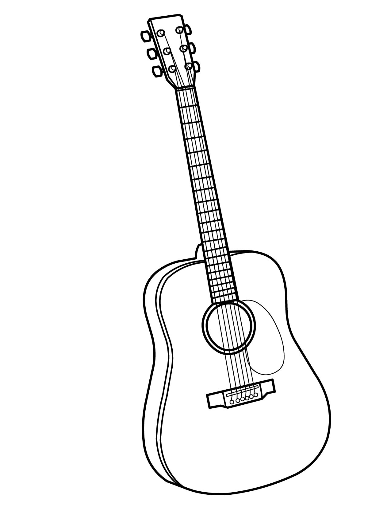free music instrument coloring pages - photo#35
