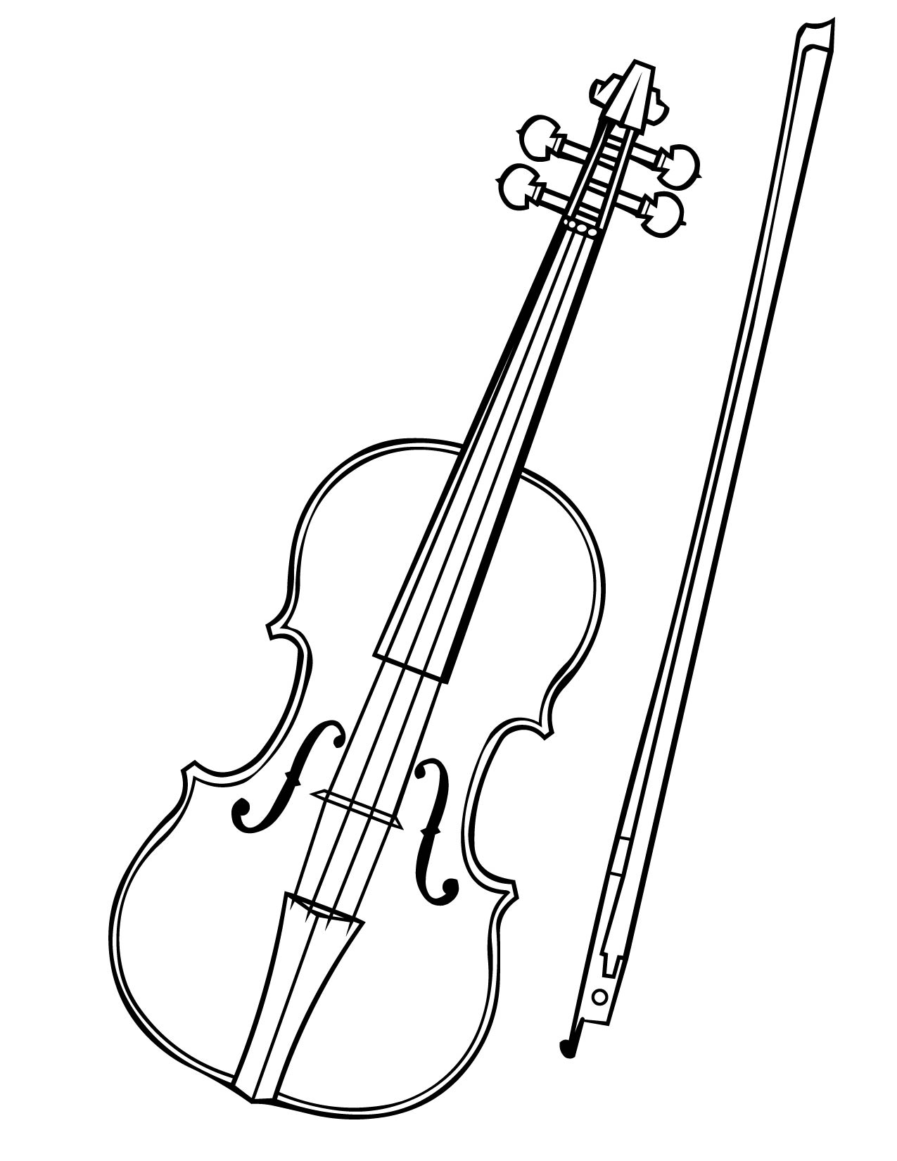 violin coloring page handipoints