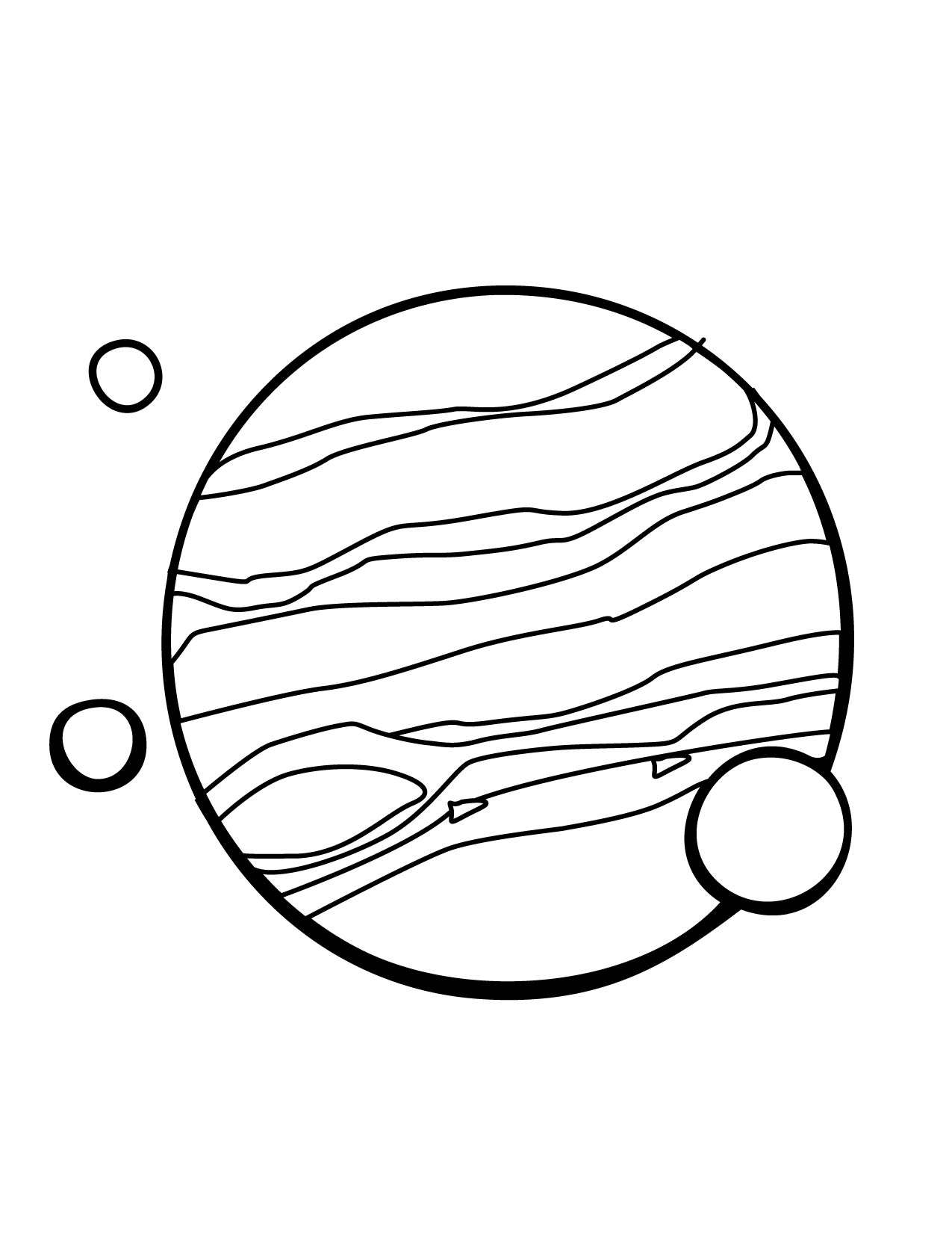 Jupiter Coloring Page Handipoints