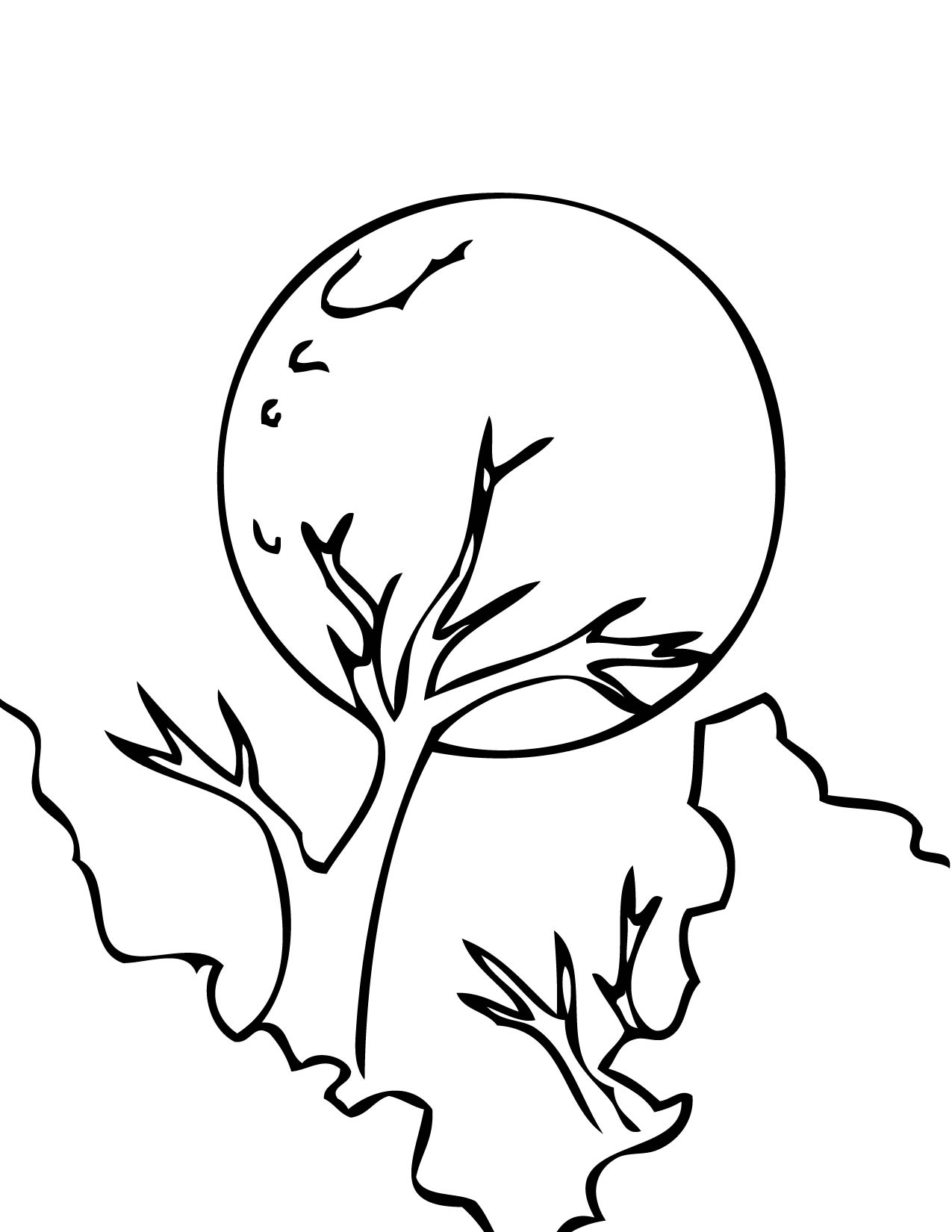 moon coloring pages for toddlers - photo#33