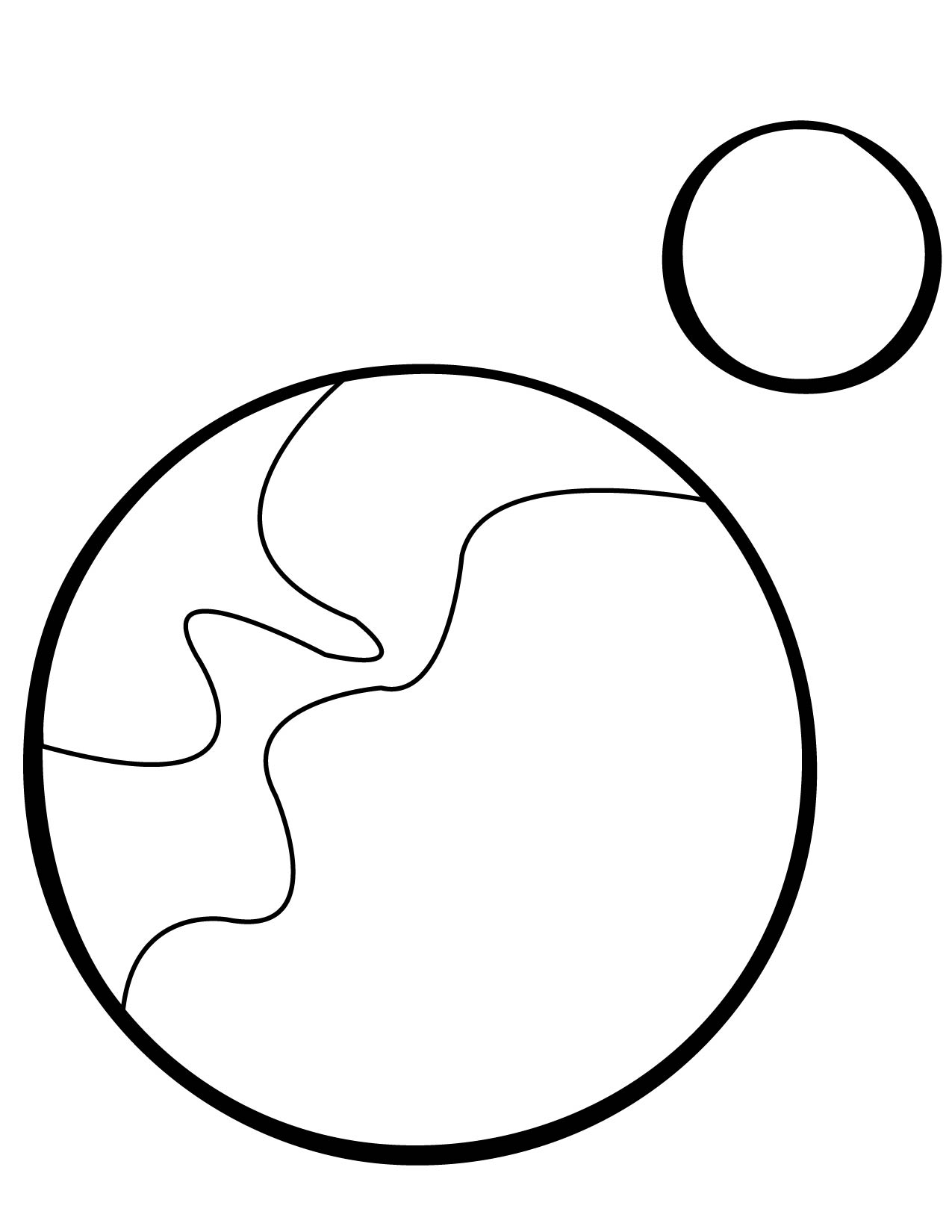 pluto coloring page handipoints