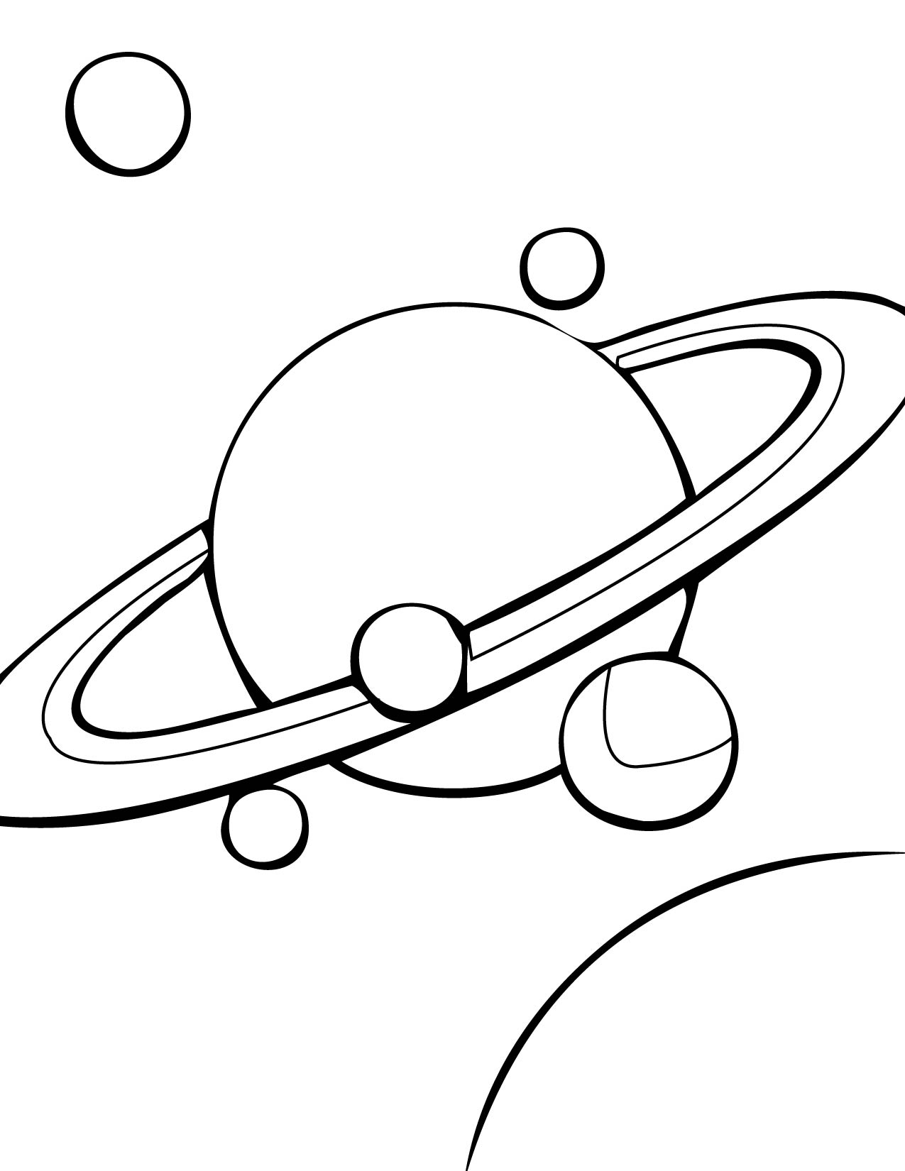free planet saturn coloring pages - photo#25