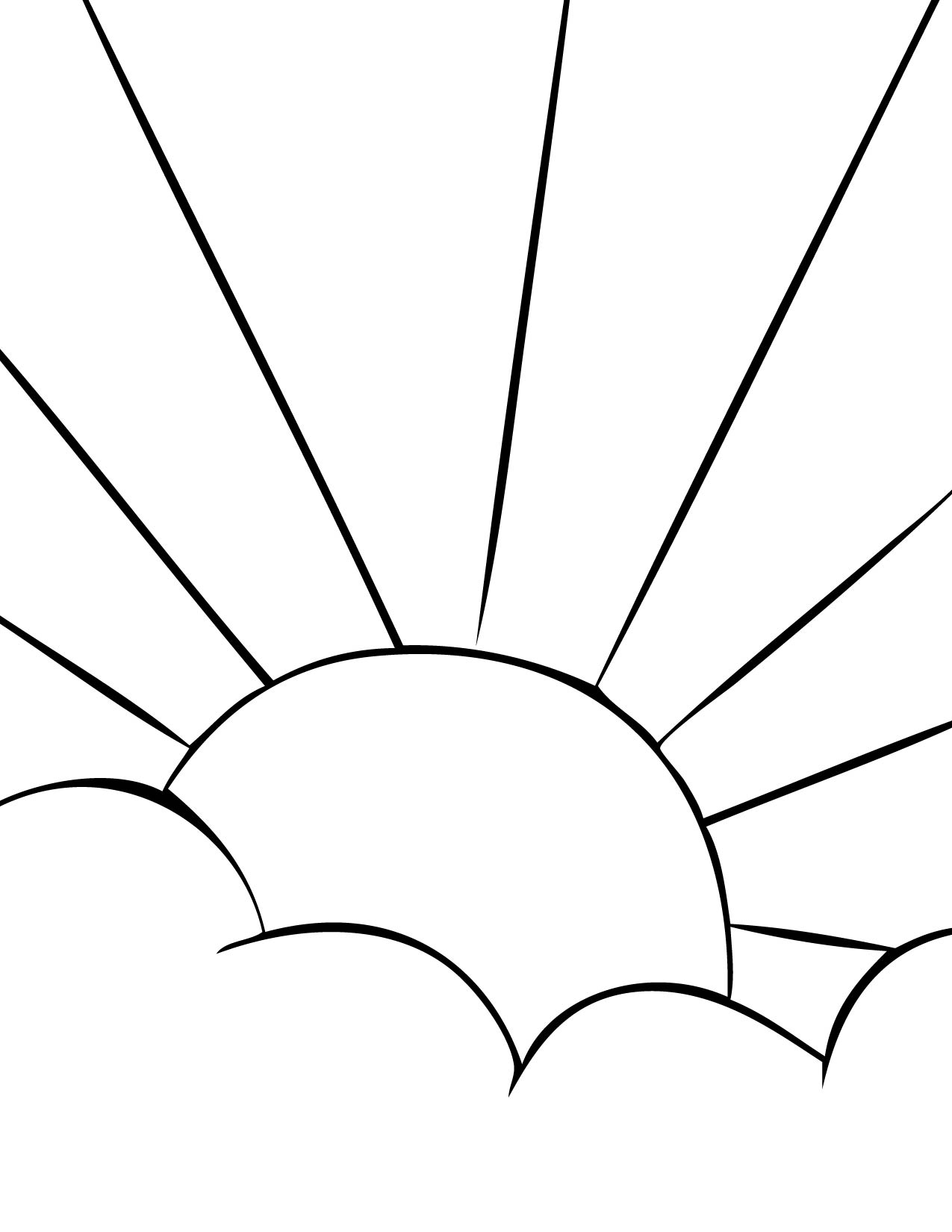Uncategorized Sun Color Page sun coloring page handipoints sun