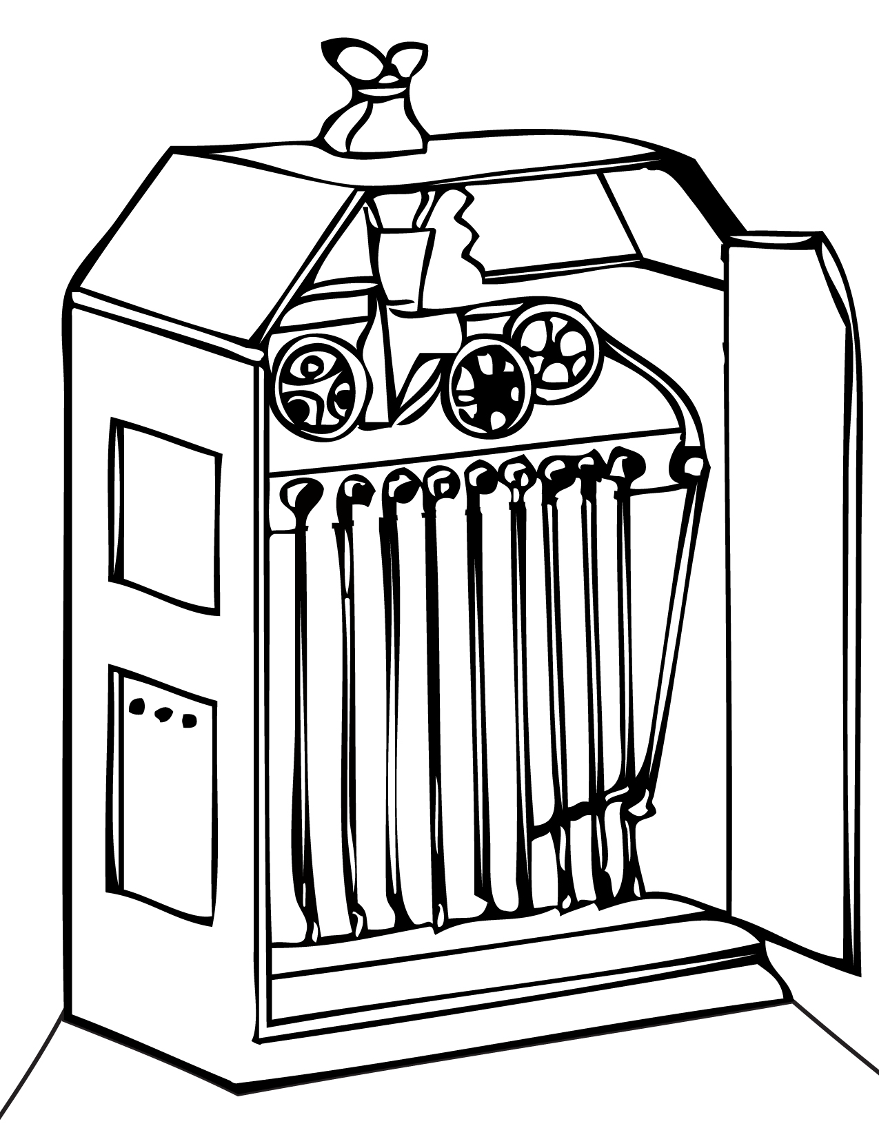 kinetoscope coloring page handipoints
