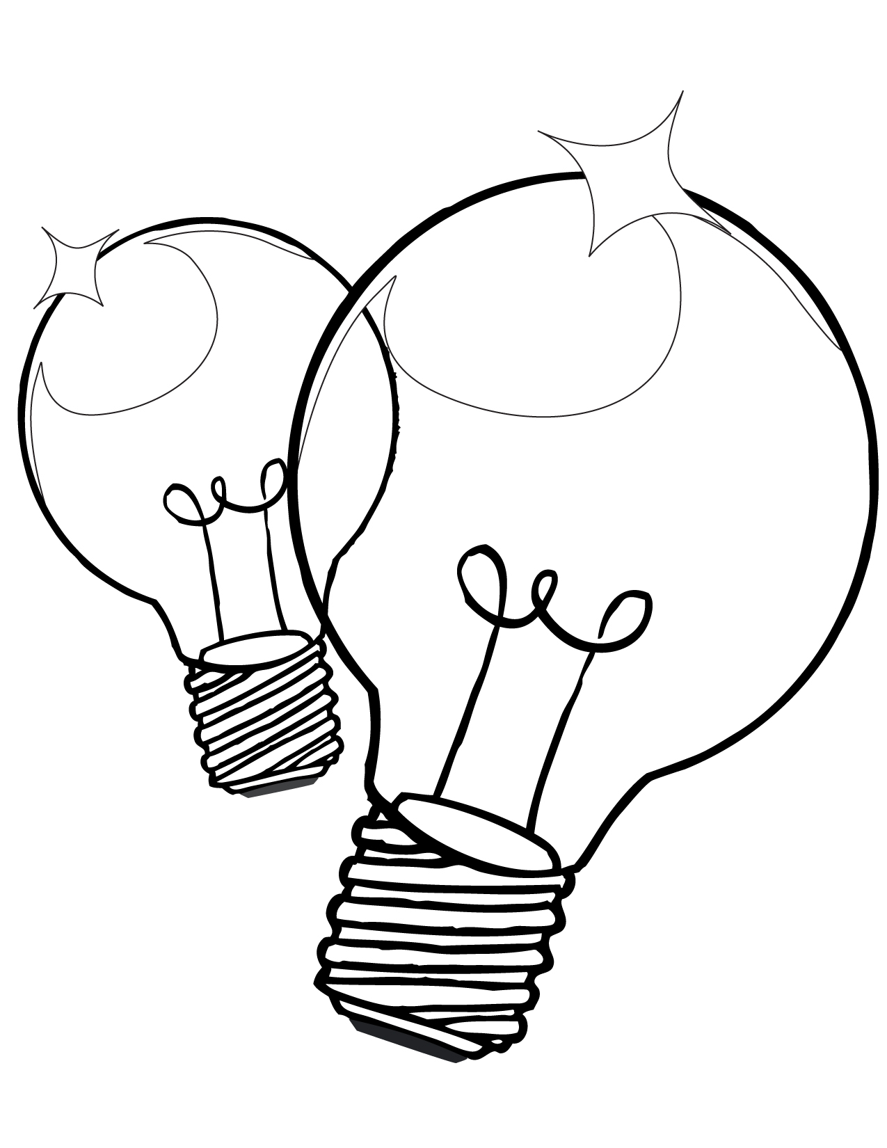 Lightbulb Coloring Page  Handipoints