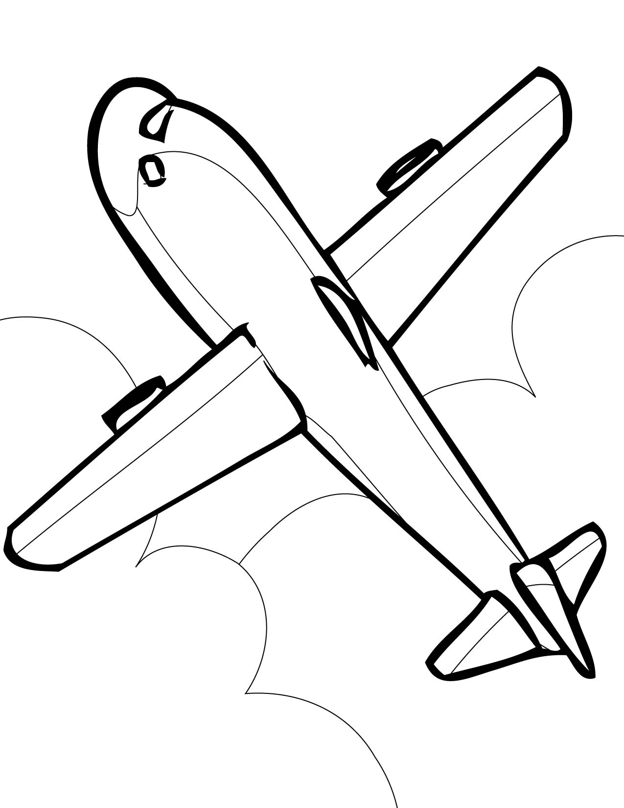Free printable coloring pages airplanes - Airplane