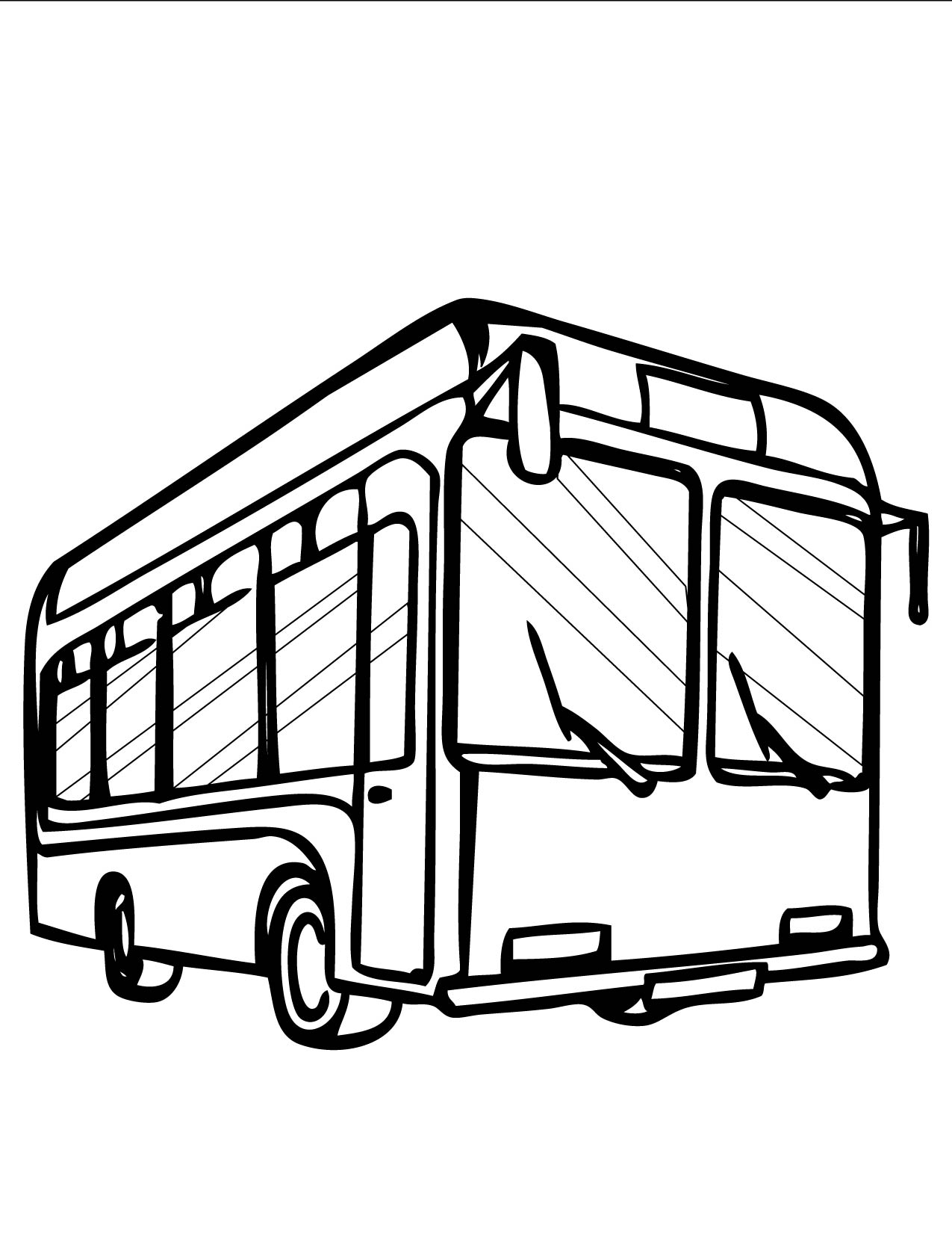 Bus Coloring Page  Handipoints