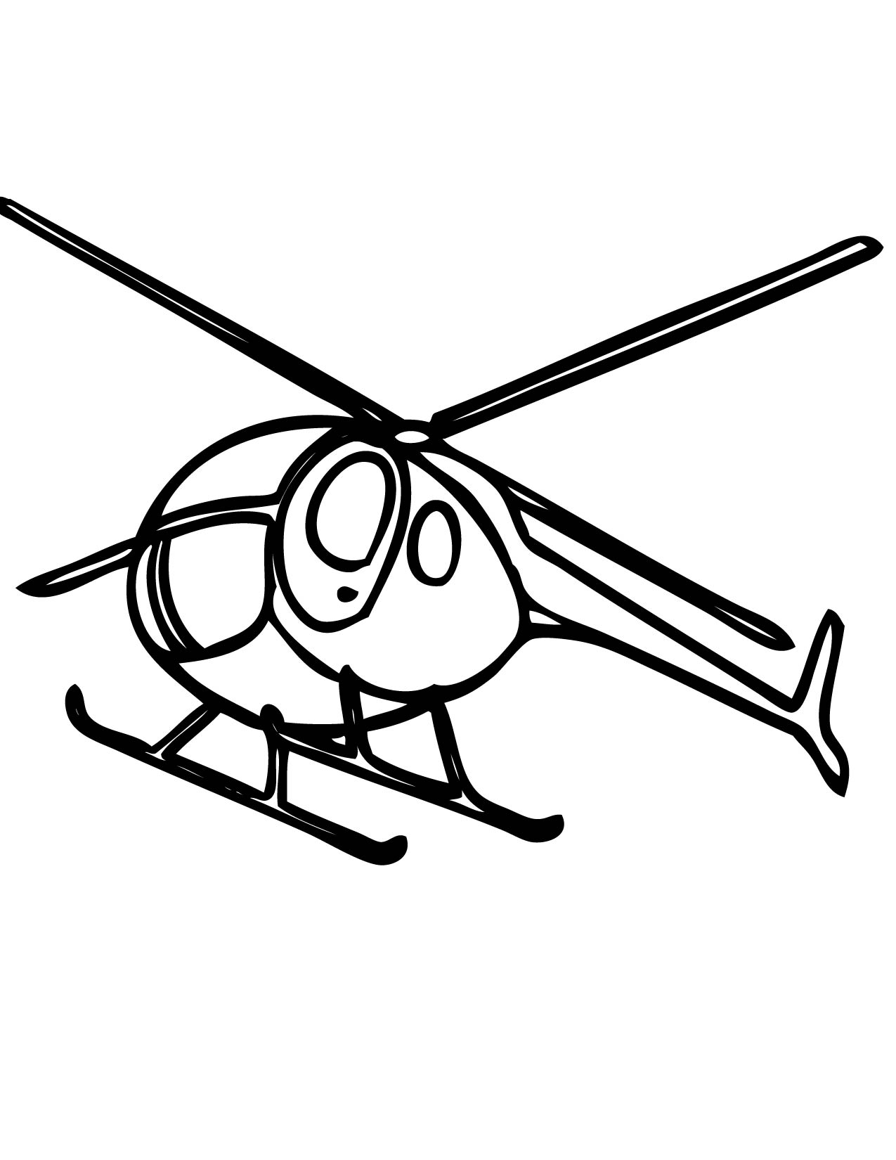 Helicopter Coloring Page Handipoints