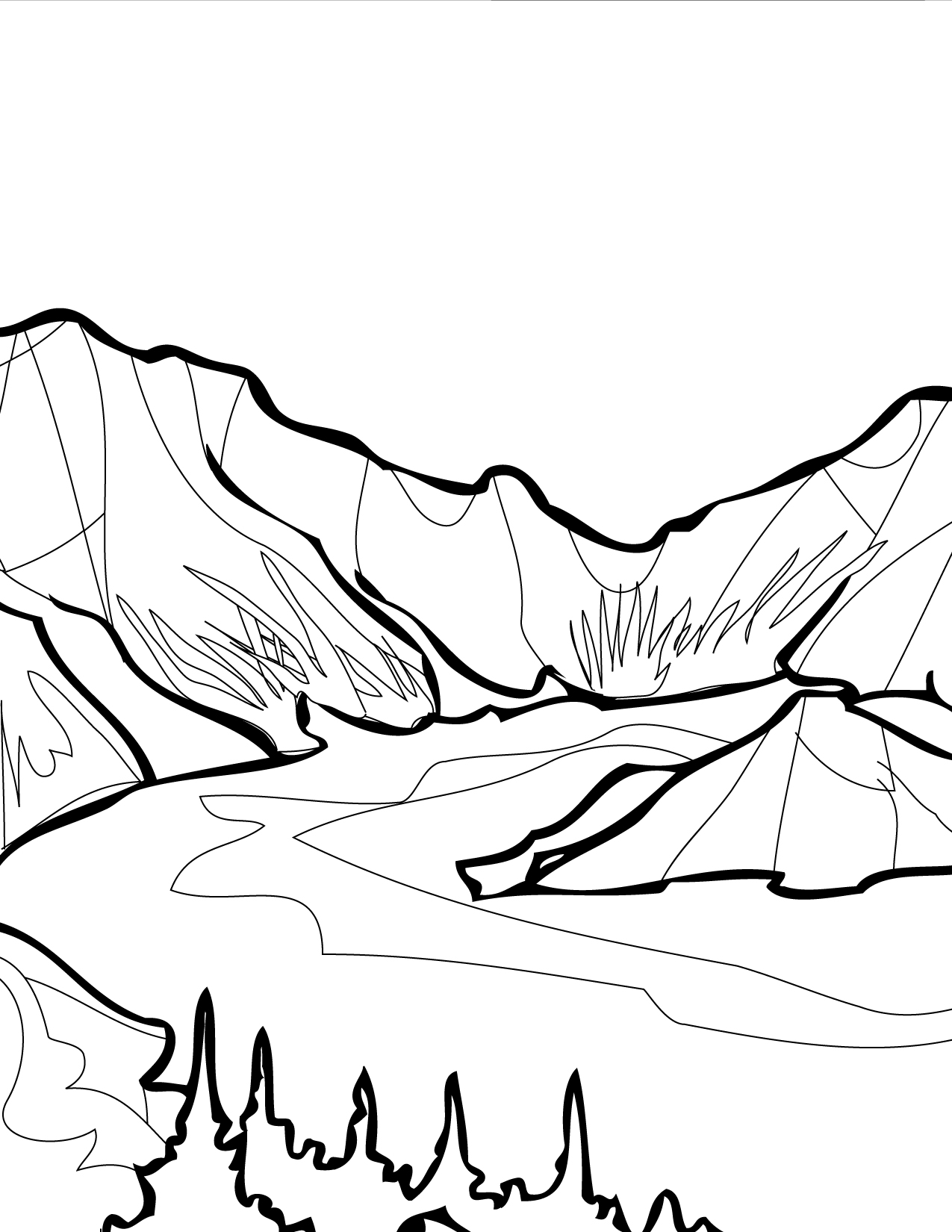 Crater Lake Coloring Page