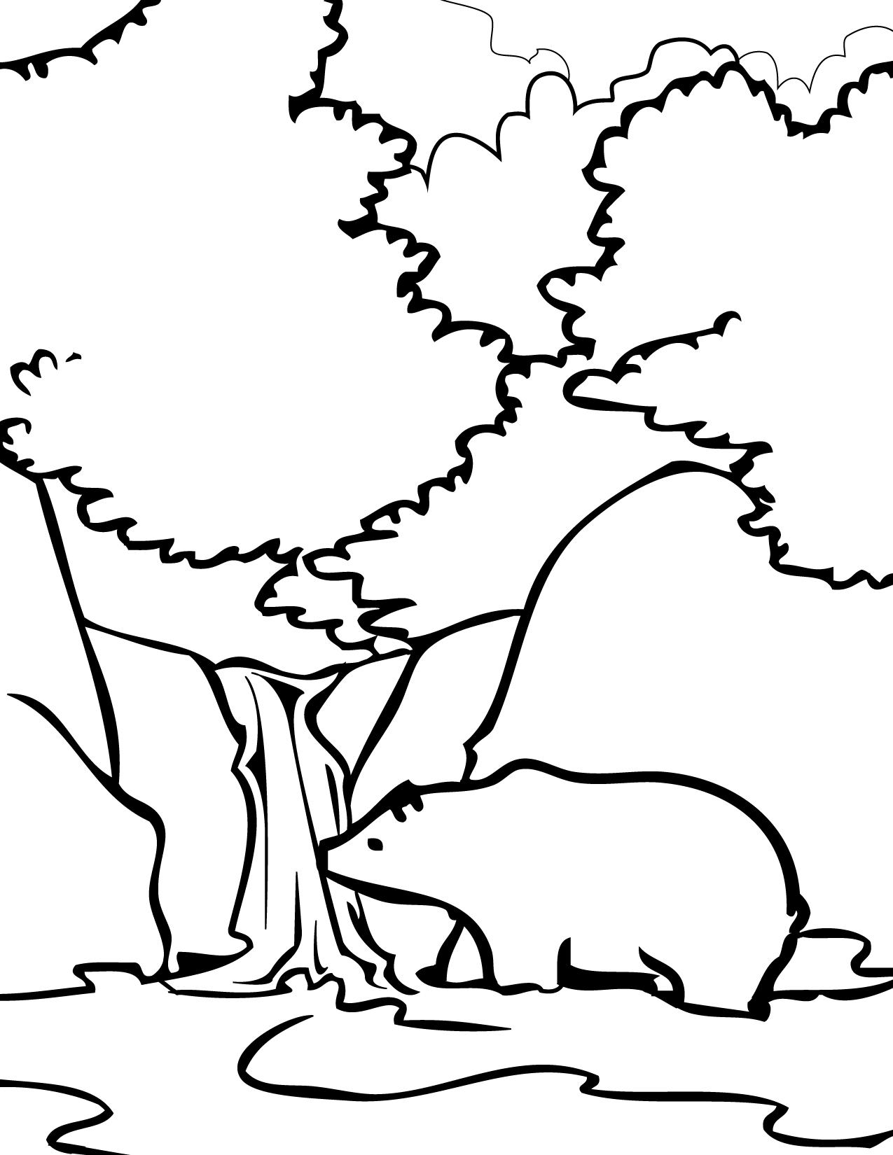 great smoky mountains coloring page handipoints