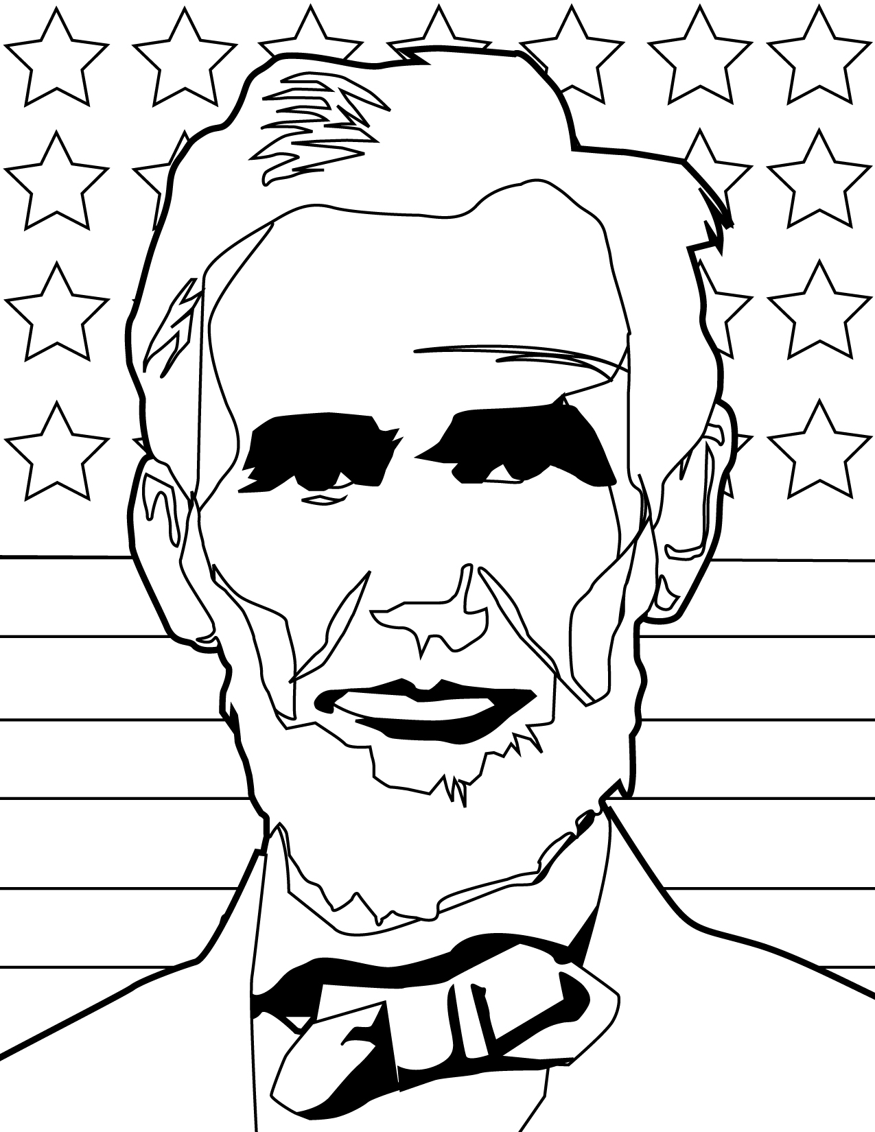 abraham lincoln hat coloring pages - photo#33