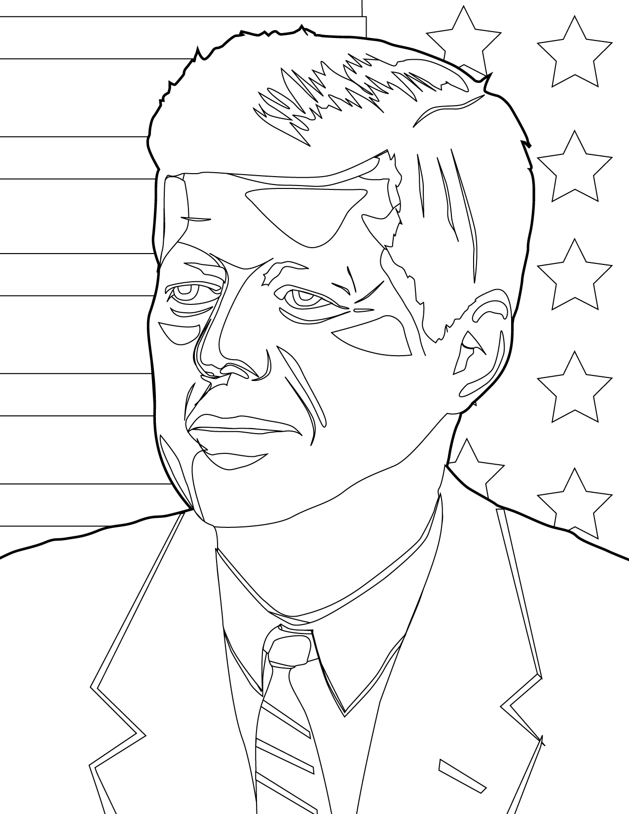 Coloring Pages Us Presidents Coloring Pages john f kennedy coloring page handipoints us presidents pages kennedy