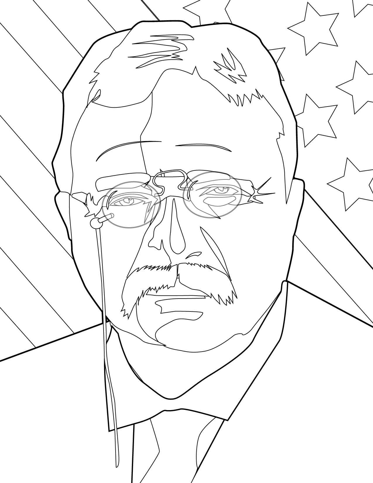 Coloring Pages Us Presidents Coloring Pages us presidents coloring pages handipoints theodore roosevelt
