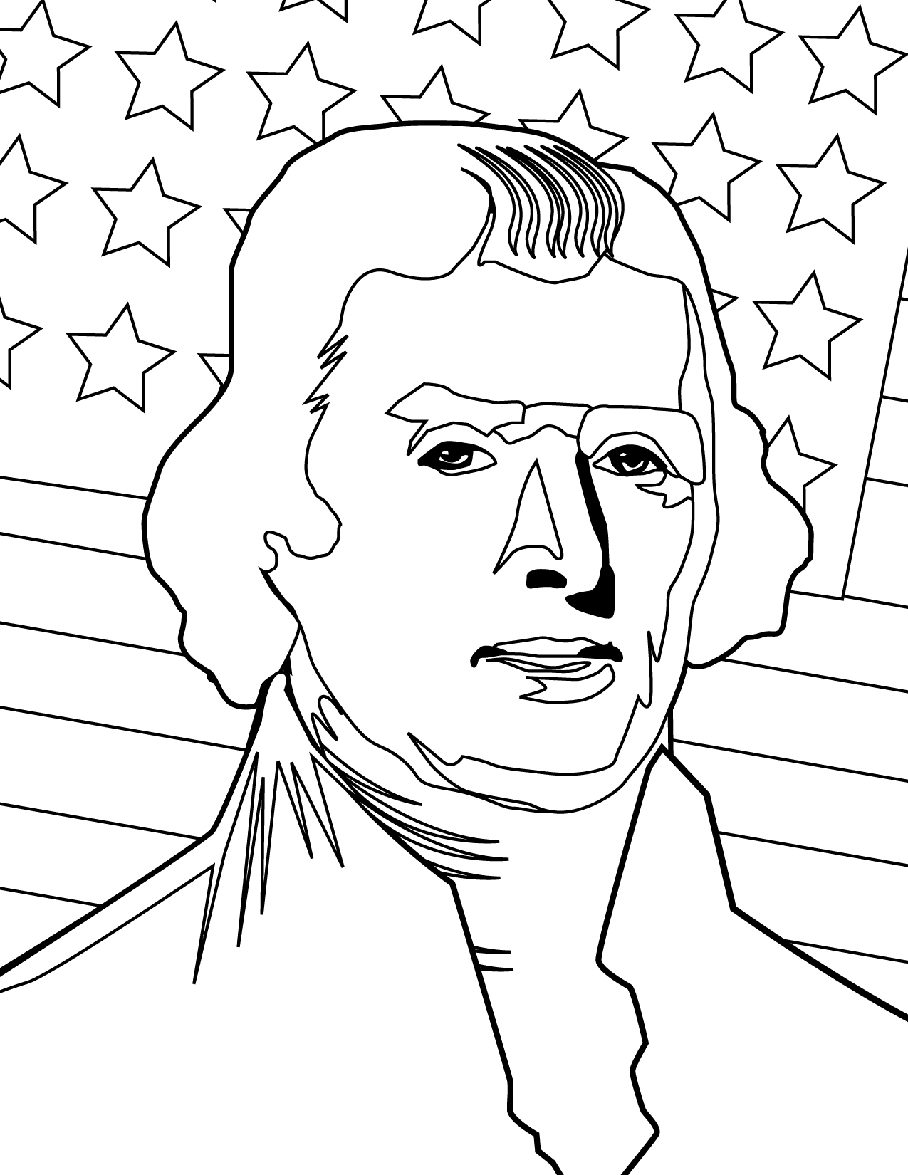 Uncategorized Thomas Jefferson Pictures To Print thomas jefferson coloring page handipoints jefferson
