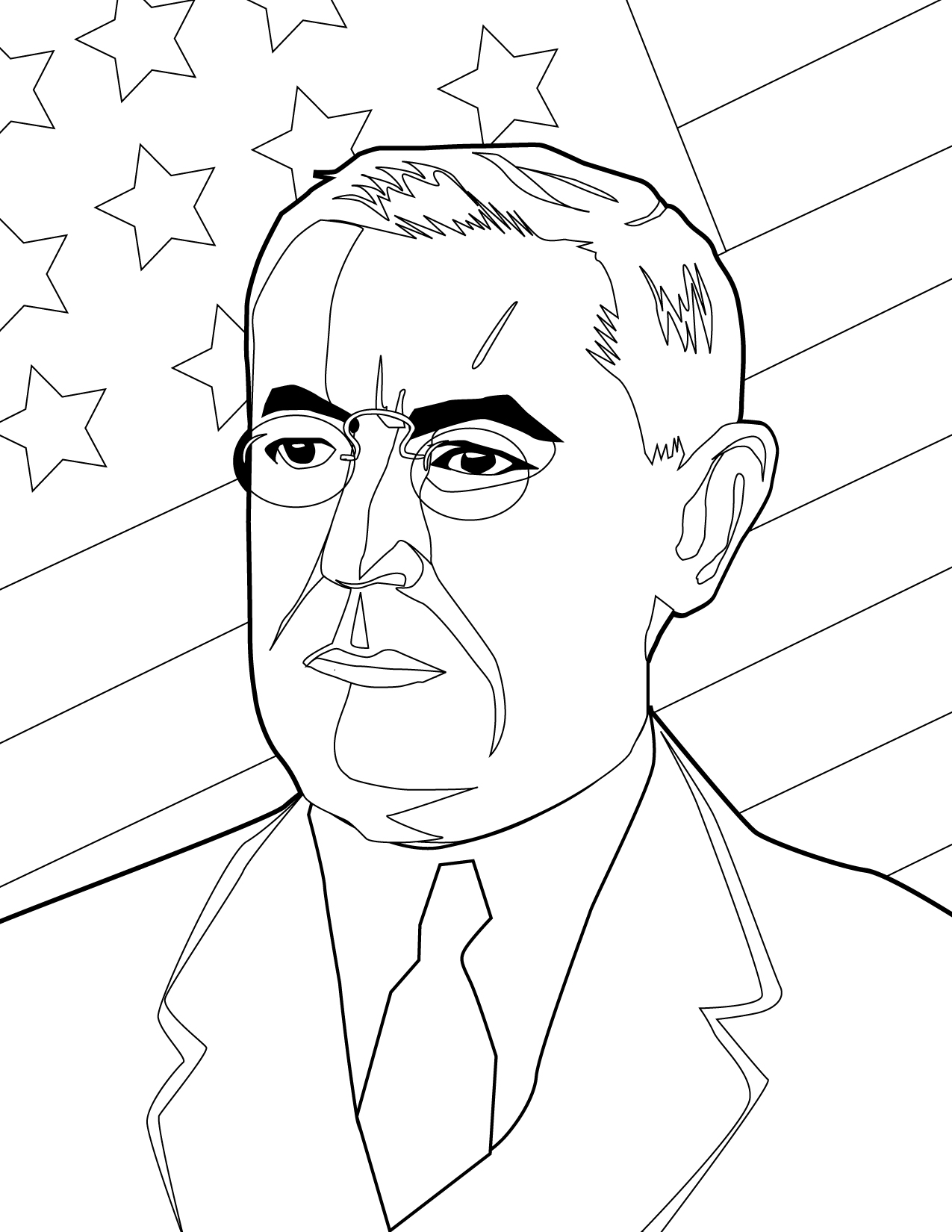 woodrow wilson coloring pages - photo#8